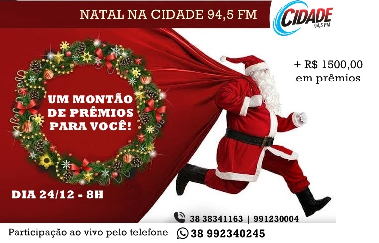 SORTEIO DE NATAL RÁDIO CIDADE 94,5